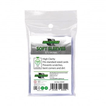Plastiklommer - Soft Sleeves - Clear (100 Standard Sleeves)